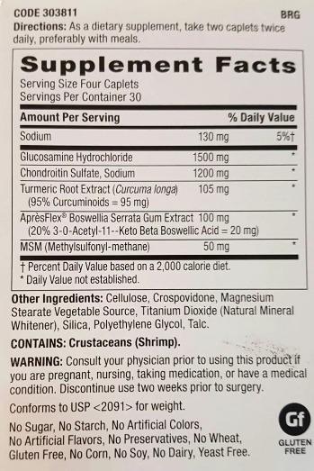 Glucosamina Condroitina Msm Triflex 120 Cáp Gnc - Envio Já - - R ...
