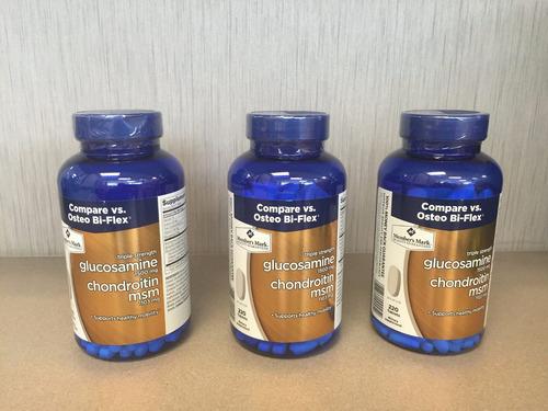 glucosamina + condroitrina + msm, 220 pastillas members mark
