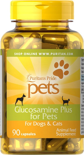 glucosamina plus for pets puritan's pride 90 capsulas