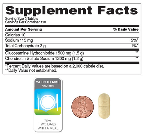 glucosamine chondroitin 220 tabletas - kirkland -