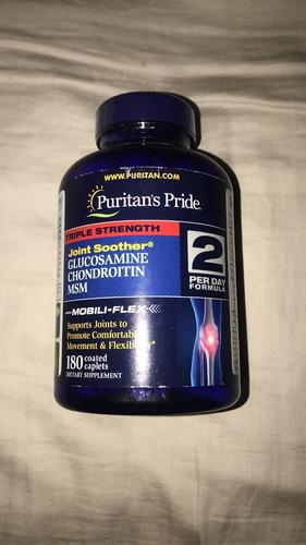 glucosamine chondroitin y msm 180 capsulas puritans pride