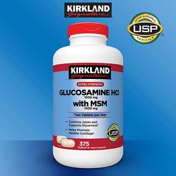 glucosamine hci 1500mg with msm 1500mg kirkland signature