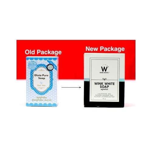 gluta pure wink white soap aclarante piel nueva versión