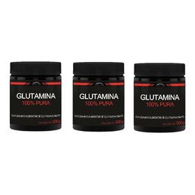 Glutamina - 100% Pura 900g Golden Science L-glutamine Combo