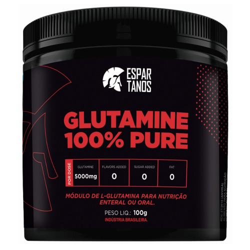 glutamina 100% pure - espartanos nutrition