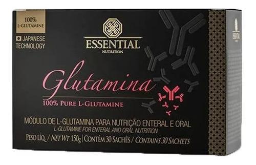 glutamina 100%pure 30 sachês 5g - essential