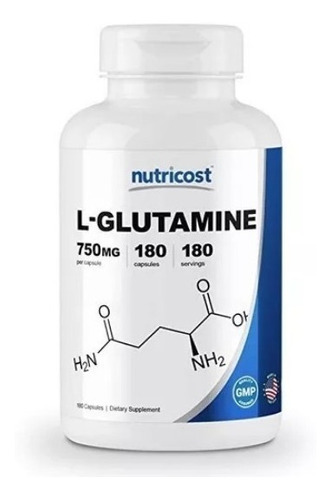 glutamina 180 capsulas regenerador ganador de masa muscular