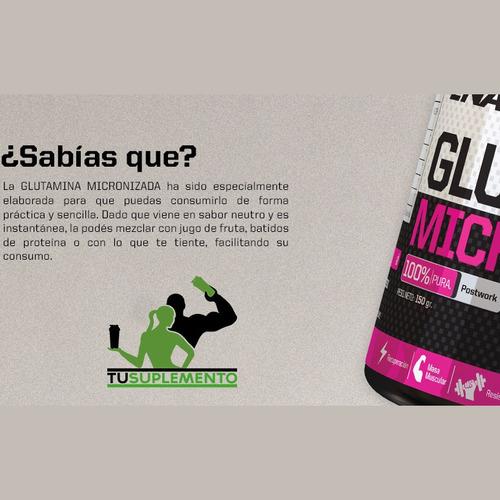 glutamina micronizada (tu suplemento)