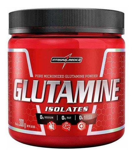 glutamina powder 300g (100% pura) - integralmedica