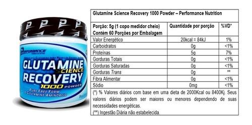 glutamina powder 300g - performance menor preço