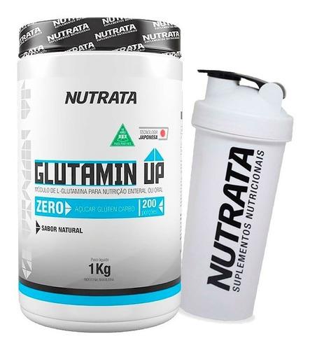 glutamina up 1kg + coqueteleira - nutrata
