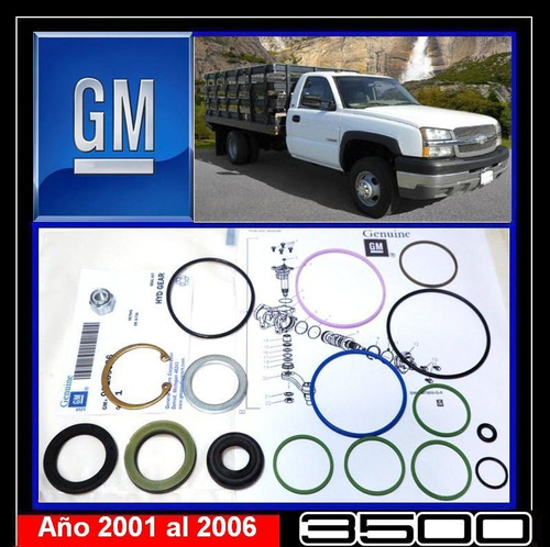 gm 3500 2001 2006 kit cajetin dirección original chevrolet