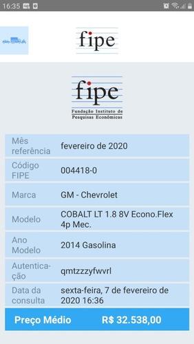 gm cobalt 1.8 lt flex 2014 completo