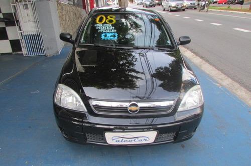 gm corsa 1.4 sedan maxx/direção hid/vidros e travas ele/2008