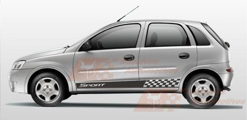 gm corsa novo adesivo sport kit faixa lateral tuning carros