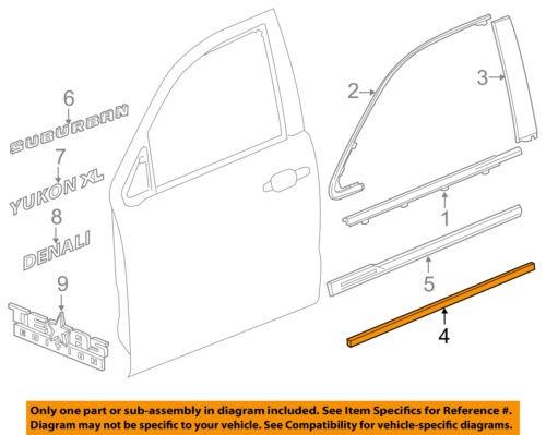 gm oem front door-body side moulding derecha 22832437