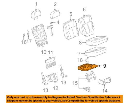 Fantastic Gm Oem Rear Seat Cushion Frame Right 88937899 3 834 22 En Wiring Cloud Hisonuggs Outletorg