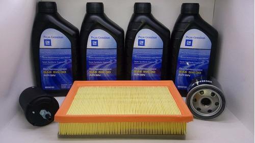 gm onix òleo 5w30 api sn original gm kit 4 l + filtros