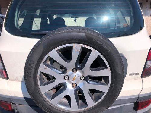 gm spin activ 1.8 automática gnv branca 15/16 pneus novos