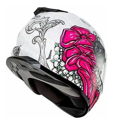 gmax ff-49 adult yarrow full-face casco de moto - blanco / r