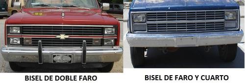 gmc pickup series c / k 1983 - 1984 bisel faro izquierdo