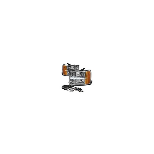 gmc sierra gmt 900 faro con led 6,000k h11 hid slim ballasts