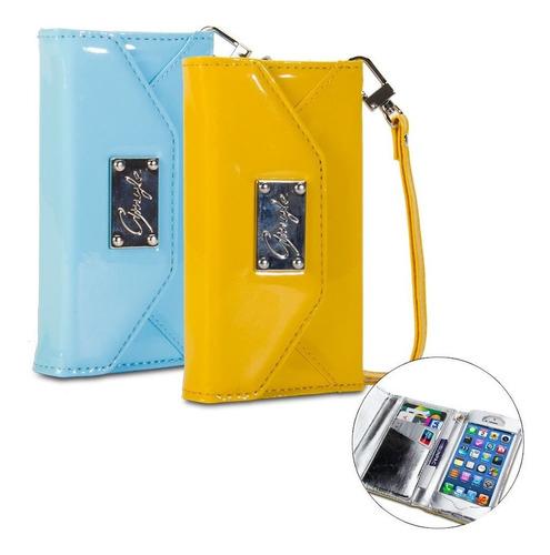 gmyle 5s case de iphone premium luxury amarillo reloj de cue