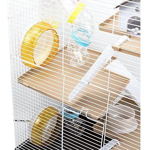 gnb pet cage05 jaula de hamster de 3 niveles ultra grande, p