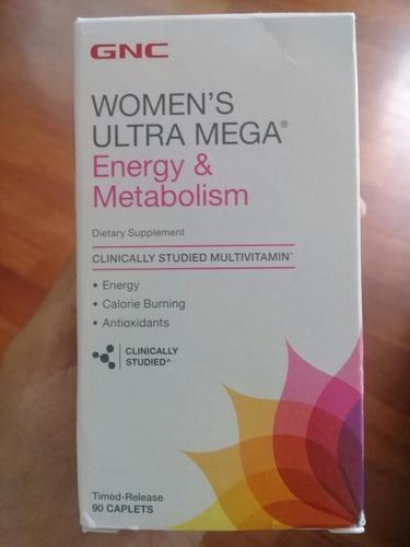 gnc womens ultra mega energy & metabolism 90 pastillas