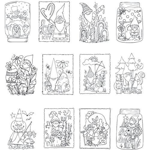 Gnome Vida Mini Libro Para Colorear - $ 53.900 en Mercado Libre