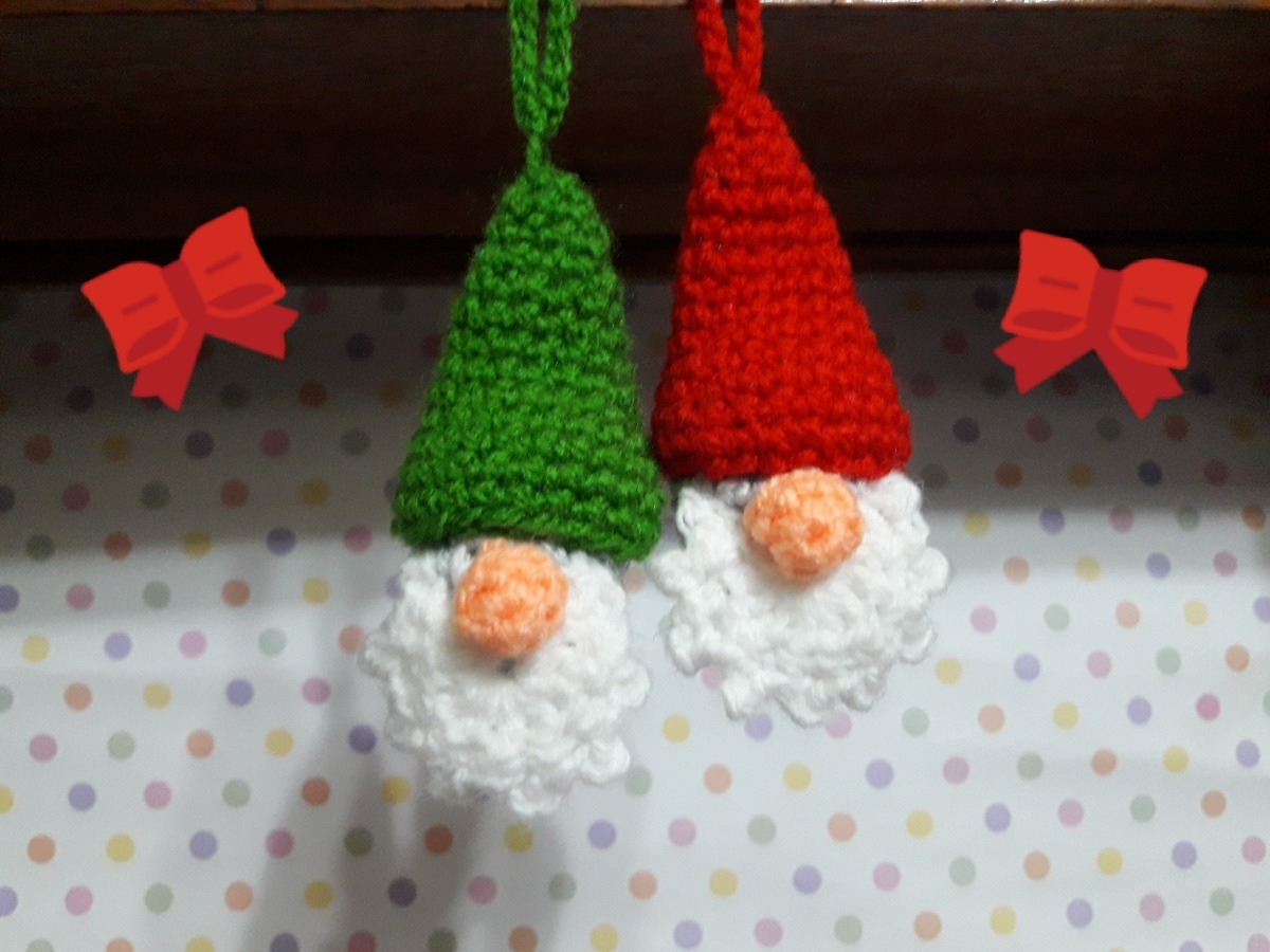 Gnomo de Natal (With images) | Christmas crochet patterns ... | 900x1200