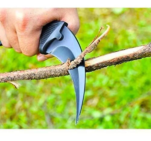 go karambit black cuchillo de caza de acero