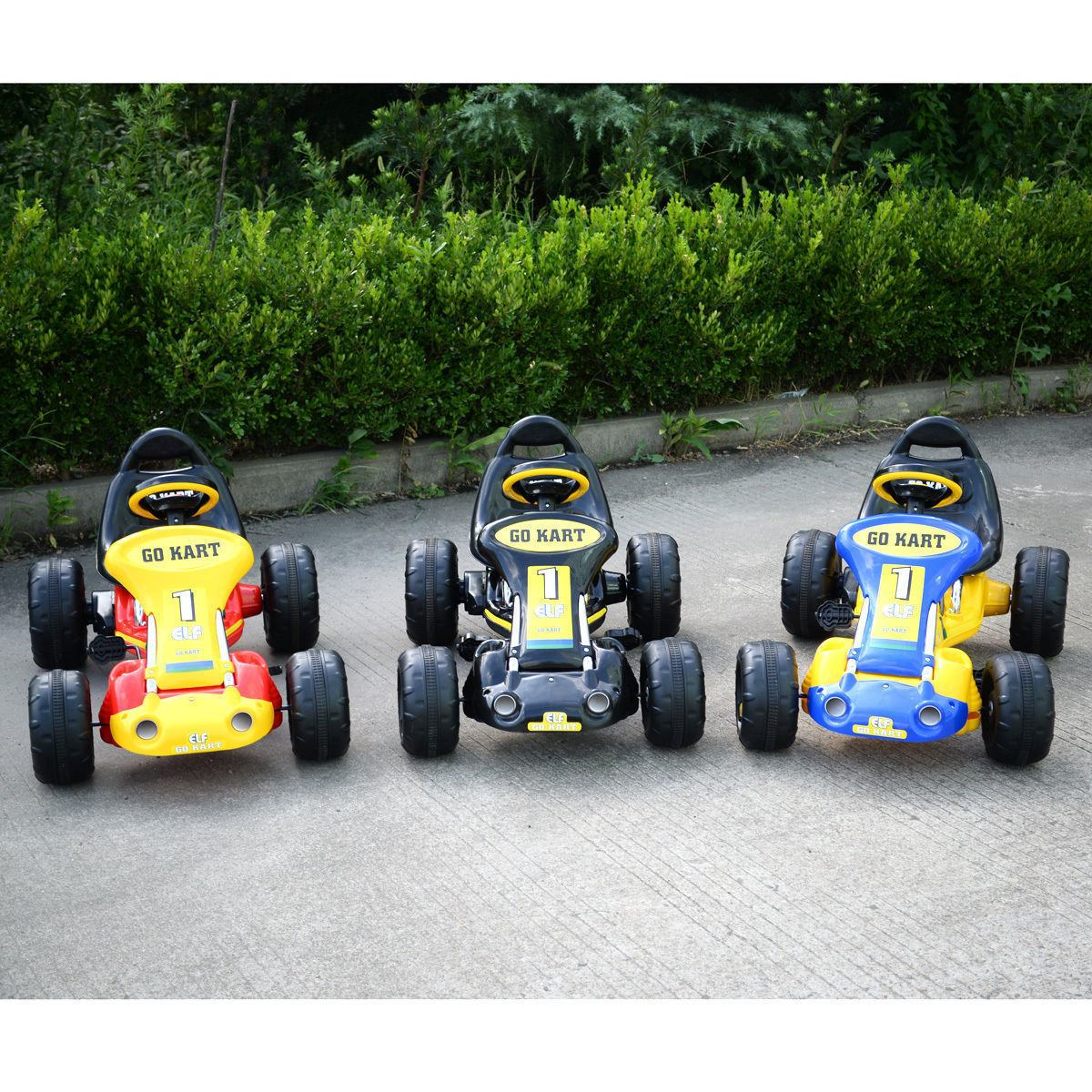 Go Kart Amarillo 4 Ruedas Niños Racer Paseo Al Aire Libre ...