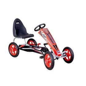 Go Kart Auto Carro  Pedales Grande Rojo Kidscool Para Niños