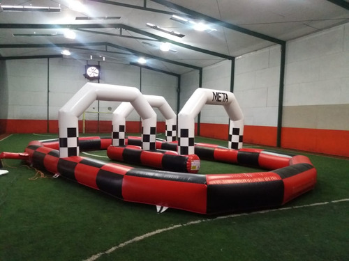 go kart con inflable pista