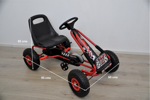go kart medium (+4 años) - auto a pedales reka toys