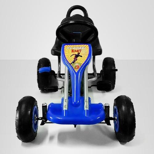 go kart pedales azul - niño juguete