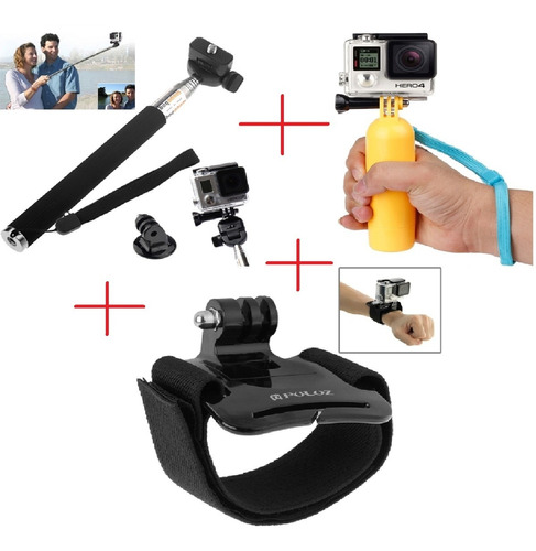 go pro bastão monopod pau de selfie boia pulseira pulso