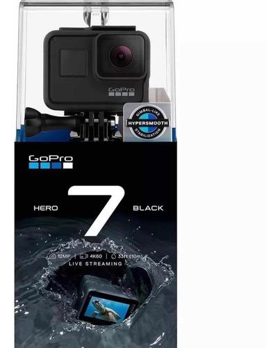 go pro gopro hero7 black camera d ação 4k a prova d'água nf