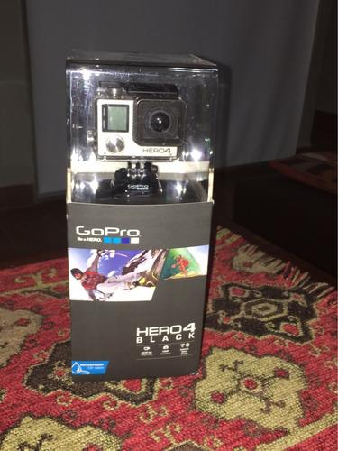 go pro hero 4 black + kit accesorios + 2 baterias + control