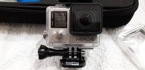 go pro hero 4 silver con 3 baterias,memoria 32 gb con todo