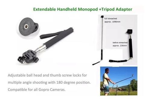go pro kit accesorios cámara gopro hero 3 hero 4 + caja