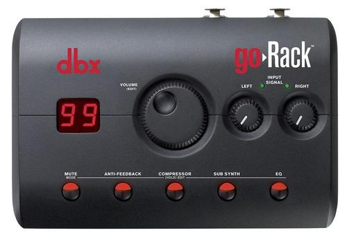 go rack dbx perfomance processor ecualizador compresor
