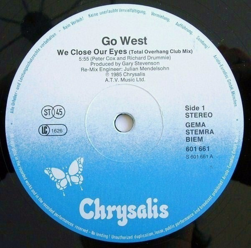 go west - we close our eyes vinilo 12 pulgadas