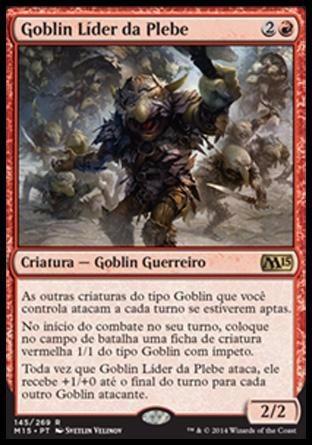 goblin líder da plebe  goblin rabblemaster