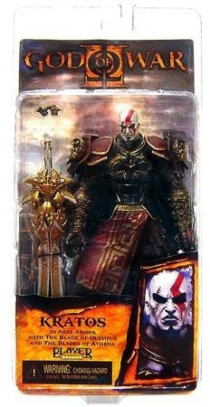 god of war 2 kratos com armadura de ares armor of ares neca