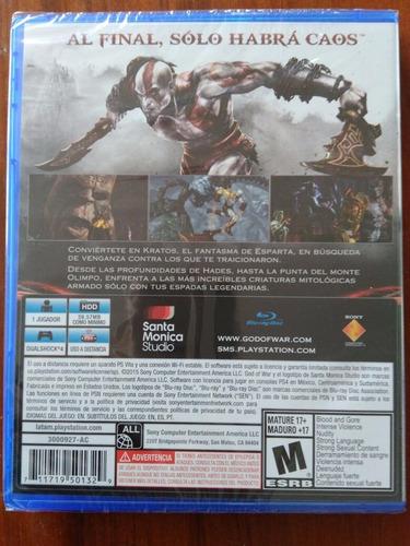 god of war 3 juego ps4 nuevo y sellado en español