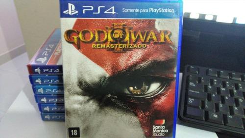 god of war 3 resmaterizado ps4( semi novo com frete grátis )