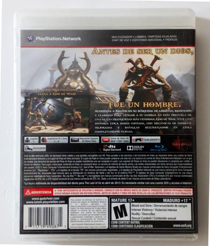 god of war ascension ps3 usado