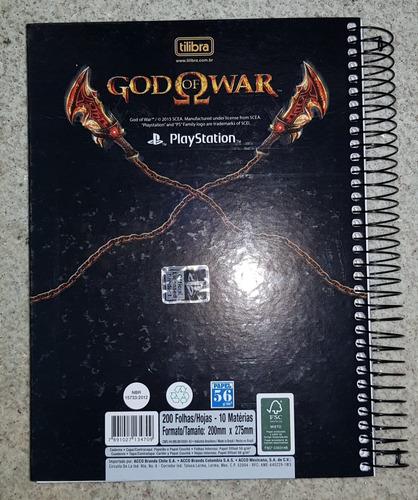 god of war - caderno 200 folhas game